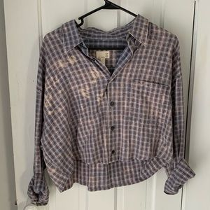 Urban Outfitter Renewal cropped button up - size M
